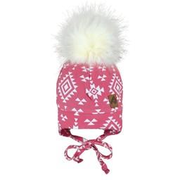 Perlimpinpin Perlimpinpin - Pompom Hat, Aztec Pink