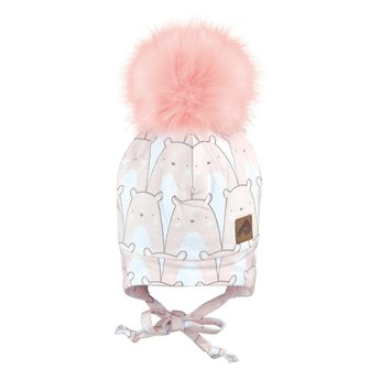 Perlimpinpin Perlimpinpin - Pompom Hat, Polar Bear Pink