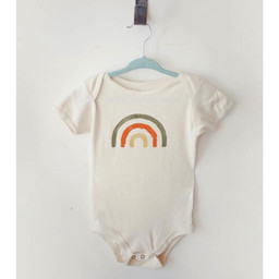 Ma petite portée Ma Petite Portée - Organic Cotton Bodysuit, Grey Rainbow