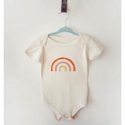 Ma petite portée Ma Petite Portée - Organic Cotton Bodysuit, Pink Rainbow