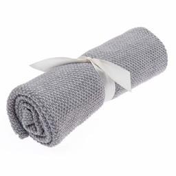 Beba Bean Beba Bean - Seed Stitch Blanket, Grey