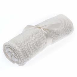 Beba Bean Beba Bean - Seed Stitch Blanket, Ivory
