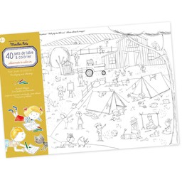 Moulin Roty Moulin Roty - Placemats Book to Colour In