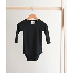 Jax and Lennon Jax and Lennon - Long Sleeve Bamboo Onesie, Charcoal