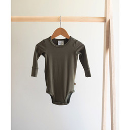 Jax and Lennon Jax and Lennon - Long Sleeve Bamboo Onesie, Sage