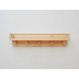 Minika Minika - Wooden Book Shelf with Hooks