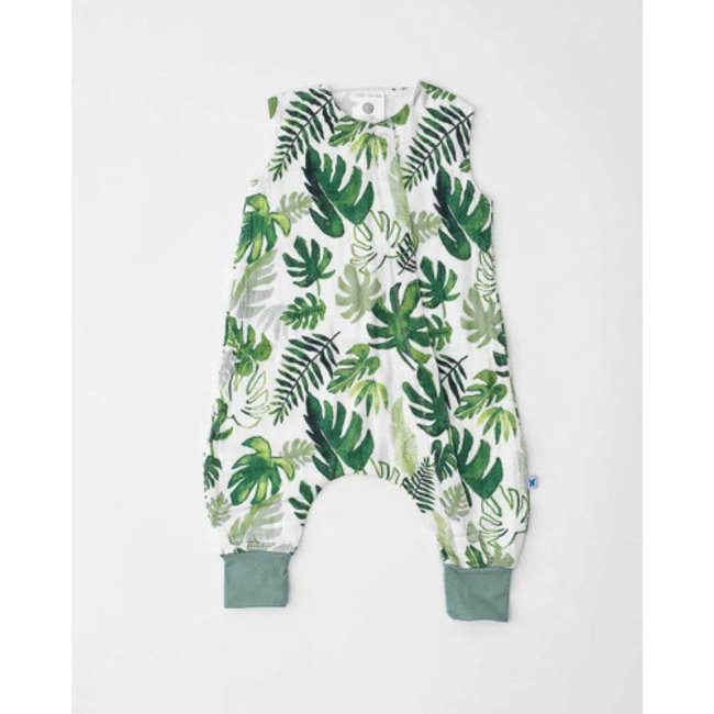 Little Unicorn Little Unicorn - Cotton Muslin Romper, Tropical Leaf