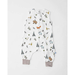 Little Unicorn Little Unicorn - Cotton Muslin Romper, Forest Friends