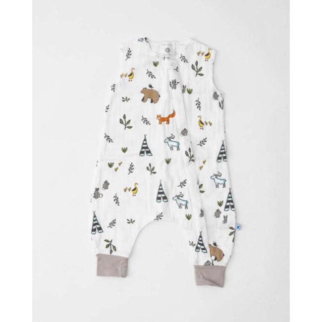Little Unicorn Little Unicorn - Cotton Muslin Romper, Forest Friends