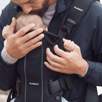 BabyBjörn BabyBjörn - One Air Baby Carrier, Black Mesh