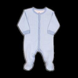 Coccoli Coccoli - Pyjama à Pattes en Tricot Double, Cachemire Bleu Chevron