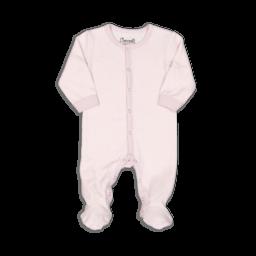 Coccoli Coccoli - Cotton Double Knit Footie, Lilac Chevron