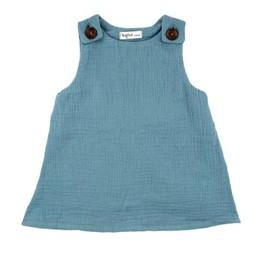 Bajoue Bajoue - Robe en Coton, Bleu Pastel