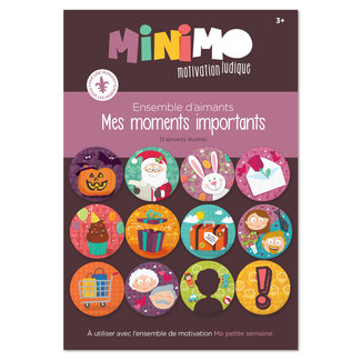 Minimo Minimo - Motivation Magnets Set, My Important Moments