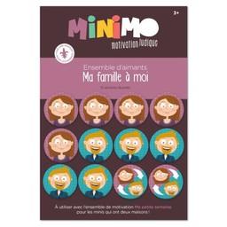 Minimo Minimo - Ensemble d'Aimants de Motivation, Ma Famille à Moi
