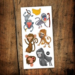 Pico Tatouages Temporaires Pico Tatoo - Temporary Tattoos, The Crazy Monkeys