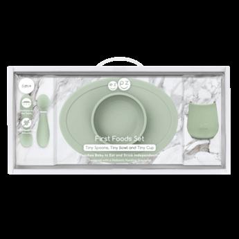 Ezpz EzPz - First Foods Set in Silicone, Sage