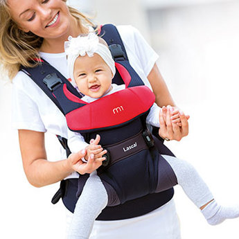 Lascal  Lascal - M1 Baby Carrier, Black and Red