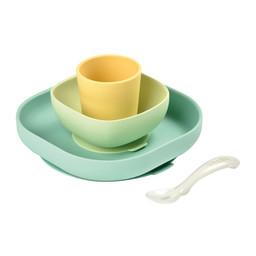 Béaba Beaba - Ensemble Repas à Succion en Silicone, Pastel