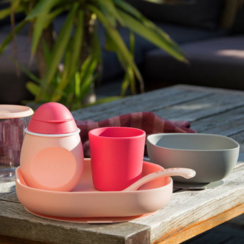 Béaba Beaba - Silicone Meal Set, Pink