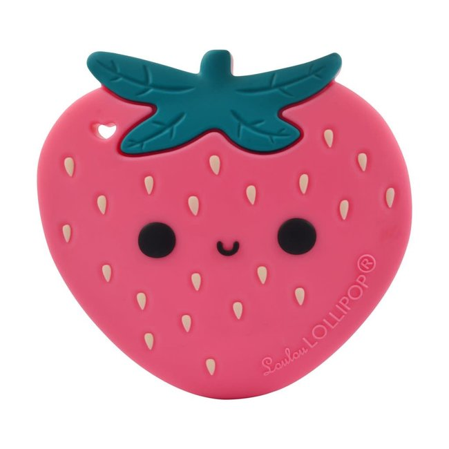 Loulou Lollipop Loulou Lollipop - Teether Toy, Strawberry