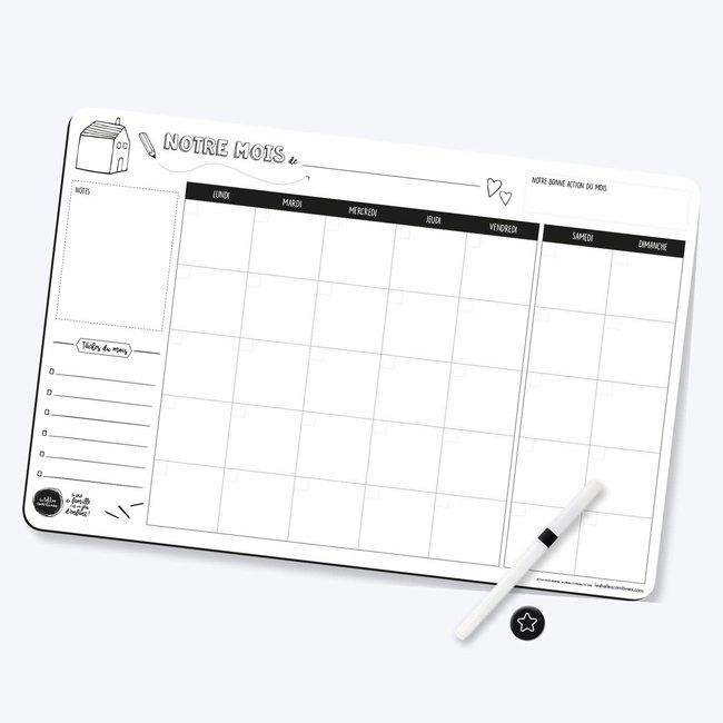 Les Belles Combines Les Belles Combines - Magnetic Family Planner, Monthly