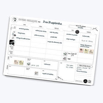 Les Belles Combines - Magnetic Family Planner, Weekly