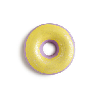 Tweemade Tweemade - Sidewalk Chalk Donut, Yellow Purple