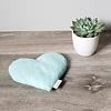 Amma Thérapie Amma Thérapie - Coussin Réconfort Coeur pour Bébé, Boomerang Aqua