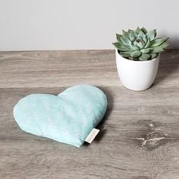 Amma Thérapie - Coussin Réconfort Coeur pour Bébé, Boomerang Aqua