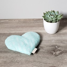 Amma Thérapie - Heart Comfort Cushion for Babies, Boomerang Aqua