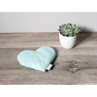 Amma Thérapie Amma Thérapie - Heart Comfort Cushion for Babies, Boomerang Aqua