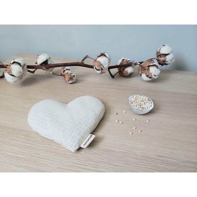 Amma Thérapie Amma Thérapie - Heart Comfort Cushion for Babies, Beige Zig Zag