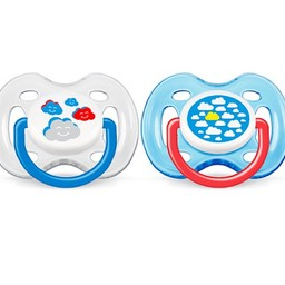 Philips Avent Philips AVENT - Suces Mode Aérées/Freeflow Fashion Soothers, 0-6 mois/months, Nuage/Cloud