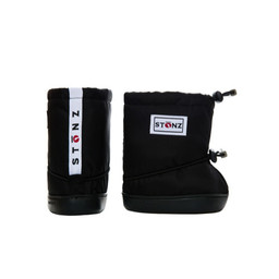 Stonz Stonz - Soft Booties for Toddler, Black