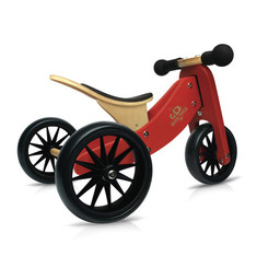 Kinderfeets Kinderfeets - Tiny Tot Balance Bike 2-in-1, Red