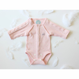 Coco Plume Coco Plume - Longsleeve Onesie for Premature, Pink