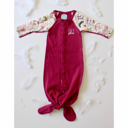 Coco Plume Coco Plume - Baby Knotted Sleep Gown, Mermaid