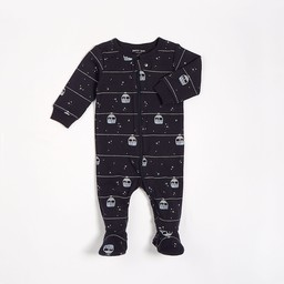 Petit Lem Petit Lem - Pyjama à Pattes en Tricot, Marine Motifs