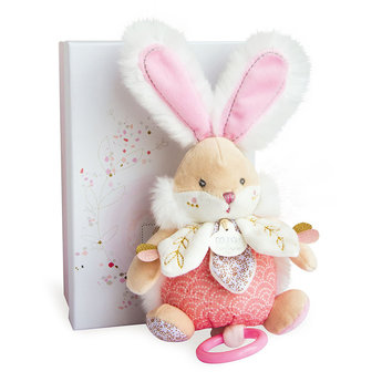Doudou et Compagnie Doudou et Compagnie - Musical Sugar Bunny 20cm, Pink