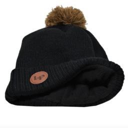 L&P L&P - Whistler, Winter Hat with Bobble, Black