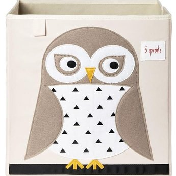 3 sprouts 3 Sprouts - Boîte de Rangement/Storage Box, Hibou/Owl
