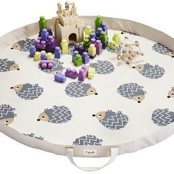 3 sprouts 3 Sprouts - Tapis de Jeux en Sac/Play Mat Bag, Hérisson/Hedgehog