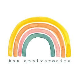Stéphanie Renière - Greeting Card, Rainbow Charlotte