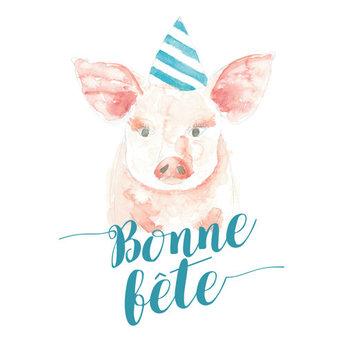 Stéphanie Renière - Carte de Souhaits, Gabrielle le Cochon