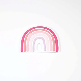 Bulle Bijouterie Bulle Bijouterie - Rainbow Lovey Toy, Pink