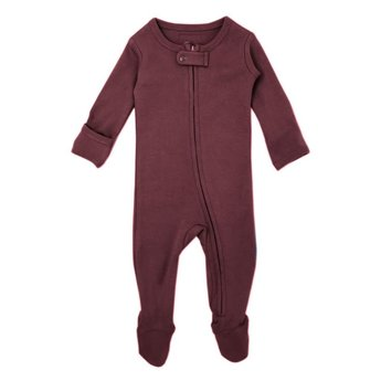 L'ovedbaby L'ovedbaby - Pyjama à Pattes en Coton Biologique, Aubergine