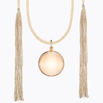 Ilado Ilado - Acapulco Maternity Necklace, Rose Gold Japanese Golden Cord