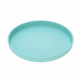 Lässig Lässig - Set of 2 Bamboo Plates for Baby, Turquoise/Grey