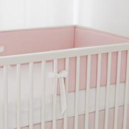Bouton Jaune Bouton Jaune - Bed Half Bumper, Liberté, Pink Dots